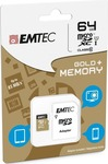 Emtec Gold+ microSDXC 64GB U1 with Adapter
