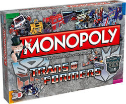 Winning Moves Monopoly : Transformers Retro