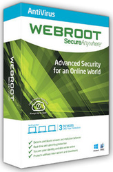 Webroot Secure Anywhere Antivirus 2016 (3 Licences , 1 Year)