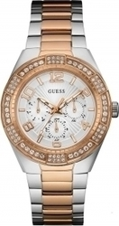 Guess Crystals Multifunction Two Tone Stainless Steel Bracelet W0729L4