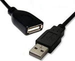 De Tech USB 2.0 Cable USB-A male - USB-A female 3m (18009)