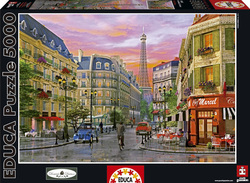 Dominic Davison: Paris Rue 5000pcs (16022) Educa