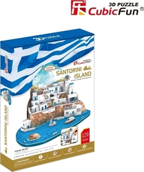 Santorini Island (Greece) 129pcs (MC195h) Cubic Fun