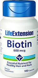 Life Extension Biotin 600mg 100 κάψουλες