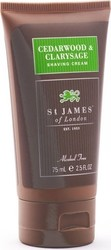 St James Of London Cedarwood & Clarysage Shaving Cream 75ml