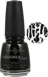 China Glaze Crackle Glaze Black Mesh