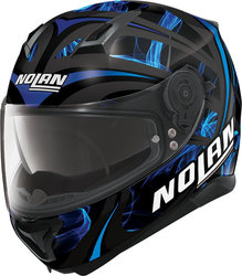 Nolan N87 Ledlight N-Com Black/Blue