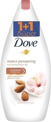 Dove Purely Pampering Almond Cream Body Wash 750ml x2