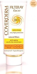 Coverderm Filteray Tinted Face Cream Light Beige SPF80 50ml