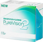 Bausch & Lomb PureVision 2HD Μυωπίας Μηνιαίοι 6pack