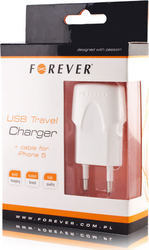 Forever Apple Lightning Cable & Wall Adapter Λευκό (5249135)