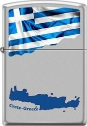 Zippo Crete And Greek Flag 205-015038