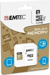Emtec Gold+ microSDHC 8GB U1 with Adapter