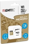Emtec Gold+ microSDHC 16GB U1 with Adapter