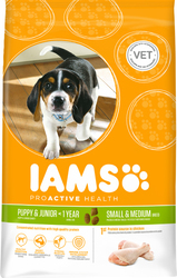 Iams Puppy & Junior Small and Medium breed Rich in Chicken 12kg