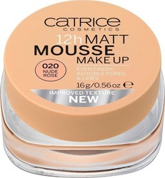Catrice Cosmetics 12h Matt Mousse Make Up 020 Nude Rose 16gr