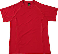 Cool Dry T-Shirt B & C Coolpower Tee Pro - Red