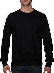 Adult French Terry Crewneck Sweat Anvil 72000 - Black