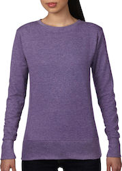 Womens French Terry Sweatshirt Anvil 72000L - Heather Purple