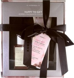 Korres Gift Set For Her Bellflower, Tangerine, Pink Pepper Eau de Toilette 50ml & Body Milk 125ml