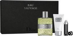 Dior Eau Sauvage Eau de Toilette 100ml & Shower Gel 50ml & Refillable Bottle 3ml