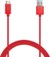 Puro USB 2.0 to micro USB Cable Red 1m (MICROUSBCABLEC5)