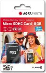 AgfaPhoto Mobile High Speed microSDHC 8GB Class 10 with Adapter