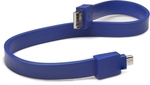 Tylt Flat USB 2.0 to micro USB Cable Blue 0.3m (MIC-DATABL-T)
