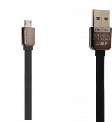 Remax Flat USB 2.0 to micro USB Cable Black 1m (Kingkong)