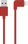 Belkin Angle (90°) USB to Lightning Cable Red 1.2m (F8J147BT04-RED)
