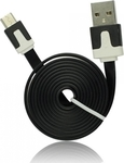 iSelf Flat USB 2.0 to micro USB Cable Black 1m (USBMICROB)