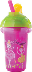 Munchkin Κύπελλο Click Lock Deco Flip Straw Princess 266ml, 12m+