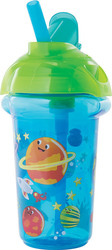 Munchkin Κύπελλο Click Lock Deco Flip Straw Space 266ml, 12m+