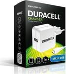 Duracell micro USB Cable & Wall Adapter Λευκό (DMAC10W-EU)