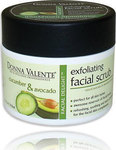 Donna Valente Cucumber & Avocado Exfoliating Facial Scrub 210gr