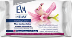 Intermed Eva Intima Fresh & Clean Towelettes Maxi Size 10τμχ