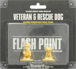 Indie Boards And Cards Flash Point: Fire Rescue Veteran & Rescue Dog Expansion
