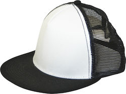 ΚΑΠΕΛΟ - CONVOY 2 TONE WOW TRUCKER CAP BLACK WHITE