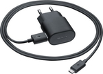 Nokia micro USB Cable & Wall Adapter Μαύρο (AC-50E) (Retail)