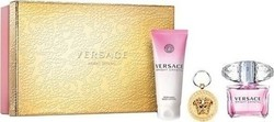 Versace Bright Crystal Eau de Toilette 90ml & Body Lotion 100ml & Keychain