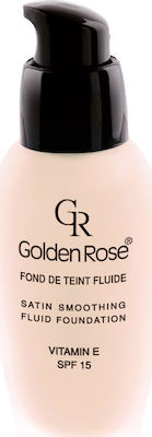 Golden Rose Satin Smoothing Fluid Foundation 30 SPF15 34ml