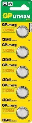 GP Batteries Lithium Cell CR2016 (5τμχ)