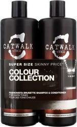 Tigi Catwalk Colour Collection Fashionista Brunette Shampoo 750ml & Conditioner 750ml