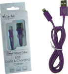 Volte-Tel USB to Lightning Cable Μωβ 1m (8118746)