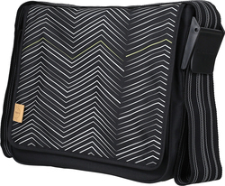 Laessig Messenger Bag Zigzag Black & White