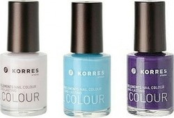 Korres Nail Polish Set 08 Candy Scallop & 71 Cyan Sea Star & 78 Purple Sea Anemone