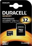 Duracell Memory microSDHC 32GB U1 with Adapter