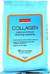 Purederm Makeup Remover Cleansing Towelettes Collagen 30τμχ
