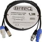 Briteq Powercon Combi Cable XLR male/Speakon male - XLR female/Speakon male 3m (1263 )