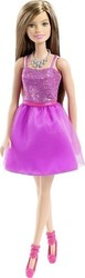 Mattel Barbie Glitz Outfits - Purple Dress Brown Hair
